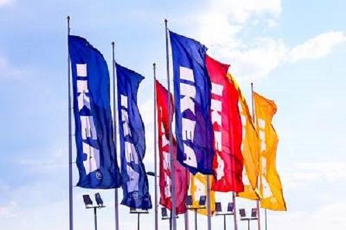 דגלים צבעוניים איקיאה